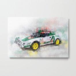 Lancia Stratos HF Rallye Metal Print