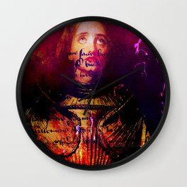 The divine revelation of Joan of Arc Wall Clock