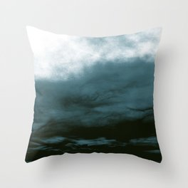 WHITE & BLUE & BLACK TOUCHING #1 #abstract #decor #art #society6 Throw Pillow