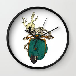 Skull on the classic Wall Clock