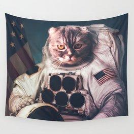 Beautiful cat astronaut Wall Tapestry