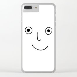 Happy Face Clear iPhone Case