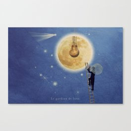 The moon watchman Canvas Print