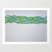 brain waves Art Prints featuring Brain Waves by Jenette Kozlowski