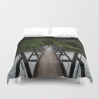 bridge Duvet Covers featuring Bridge by Michelle McConnell