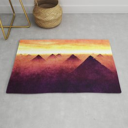 Pyramids At Sunrise Rug