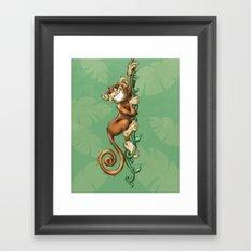 Monkey! Framed Art Print