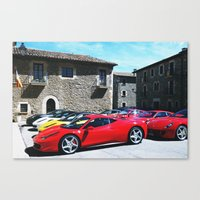 ferrari Canvas Prints featuring Ferrari by saintsandevils