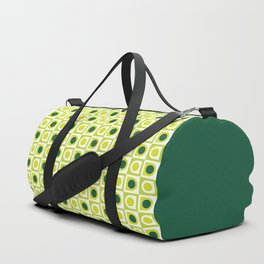 Geometric Pattern #210 (lime green) Duffle Bag