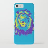 lion king iPhone & iPod Cases featuring KING LION by free_agent08