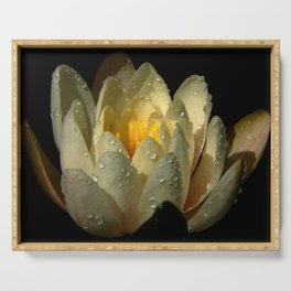 Water Lily Serving Tray