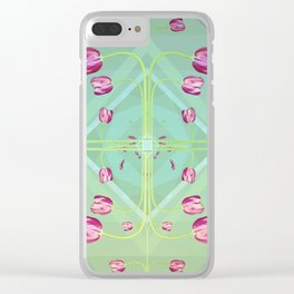 Tulips in green shades Clear iPhone Case