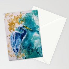 Blue Egret. Stationery Cards