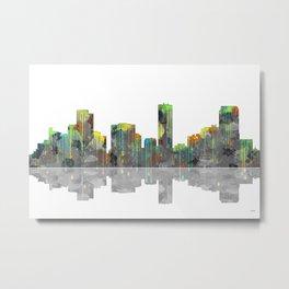 Denver Skyline BW Metal Print