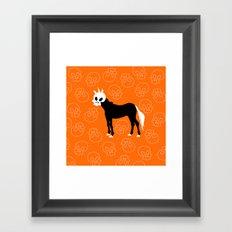 Skullhead Unicorn Framed Art Print