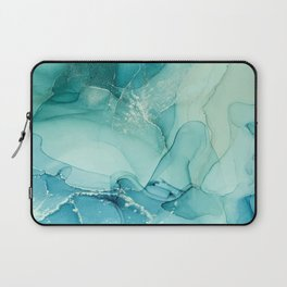 Abstract Blue Teal Turquoise Art Print By LandSartprints Laptop Sleeve