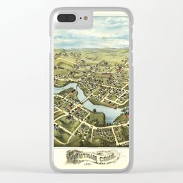 Aerial View of Putnam, Connecticut (1877) Clear iPhone Case