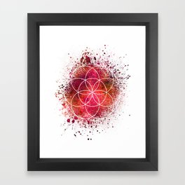 Seed of Life Sacred Geometry Framed Art Print