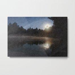 Strawberry moon (digital art) Metal Print