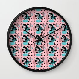 Zebra pattern Wall Clock
