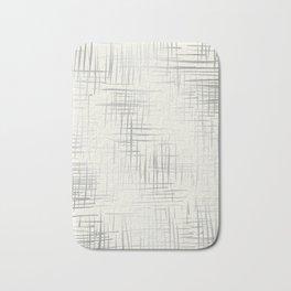 Crosshatch Silver Bath Mat