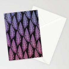 Multi Color Leaves (Black) Stationery Cards