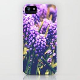 Vintage purple flowers iPhone Case