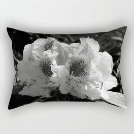 Azalea in Black and White Rectangular Pillow