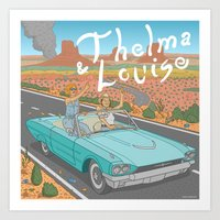 Thelma And Louise Art Print