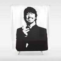 david fleck Shower Curtains featuring david by b & c