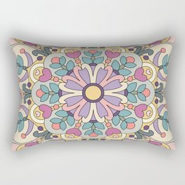 Happiness is Now Mandala Rectangular Pillow