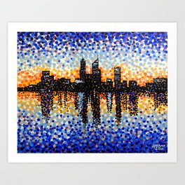 Perth City Sunrise Art Print