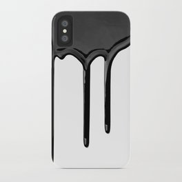 Black paint drip iPhone Case