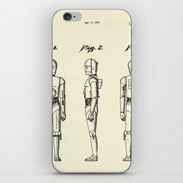 Robot C3PO-1979 iPhone Skin