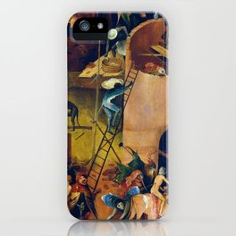 """Hieronymus Bosch """"The Haywain Triptych"""" right panel iPhone Case"""