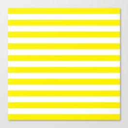 Horizontal Yellow Stripes Canvas Print
