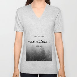 And So The Adventure Begins - New Day Unisex V-Neck