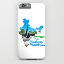 The Martyrs Memorial Chandigarh India Green Tree Grass Hill Water iPhone Case