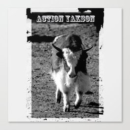 Action Yakson: King of the Yaks Canvas Print