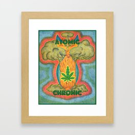 Atomic Chronic Framed Art Print