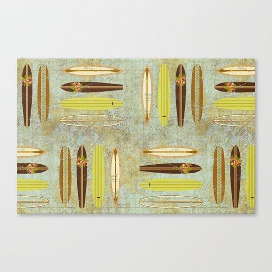 Surf Pattern 4 Canvas Print