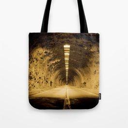 Late Hike Through Yosemite Tunnel Tote Bag
