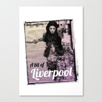 liverpool Canvas Prints featuring LIVERPOOL by TOO MANY GRAPHIX