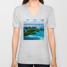Where Heaven Touched Earth: Palau South Pacific Islands Unisex V-Neck