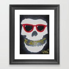 Old Dirty-Crimson Ghost-Face Killa Framed Art Print