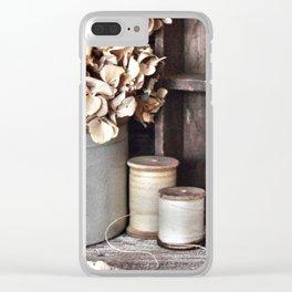 Vintage Vignette Clear iPhone Case