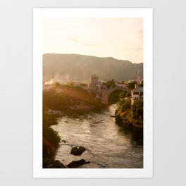 Mostar Bridge Art Print