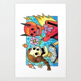 Amor de dos Art Print