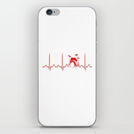 DRUMS HEARTBEAT iPhone Skin