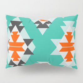 Triangles and diamonds in mint Pillow Sham